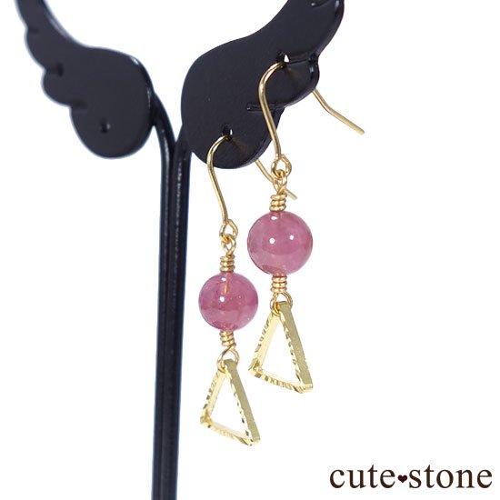 【全2種類】ピンクトルマリンの ピアス イヤリングの写真3 cute stone