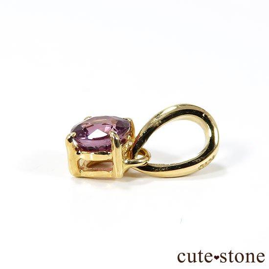 ピンクサファイアのK18製のペンダントトップの写真3 cute stone