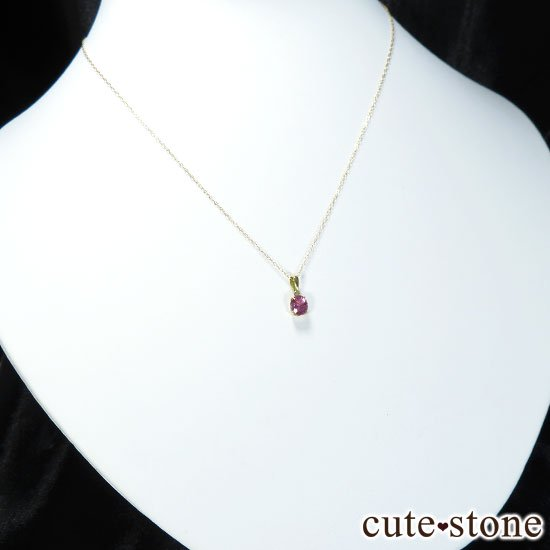 ピンクサファイアのK18製のペンダントトップの写真4 cute stone