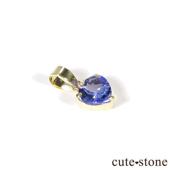 タンザナイトのハート K18製のペンダントトップの写真0 cute stone