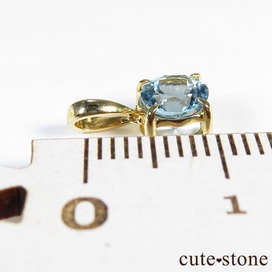 アクアマリンのK18製のペンダントトップの写真1 cute stone