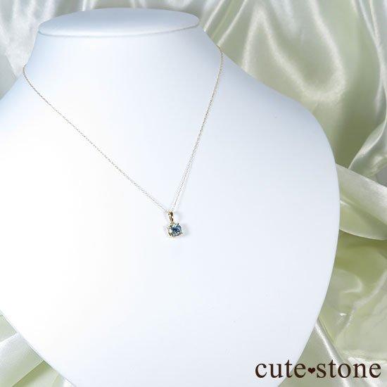 アクアマリンのK18製のペンダントトップの写真4 cute stone