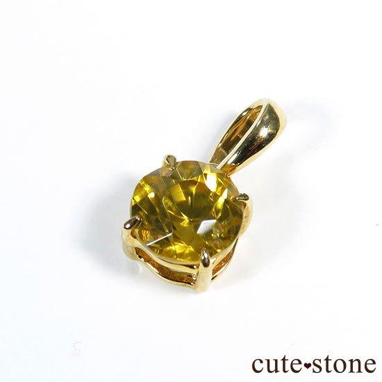 シトリンのK18製のペンダントトップの写真0 cute stone