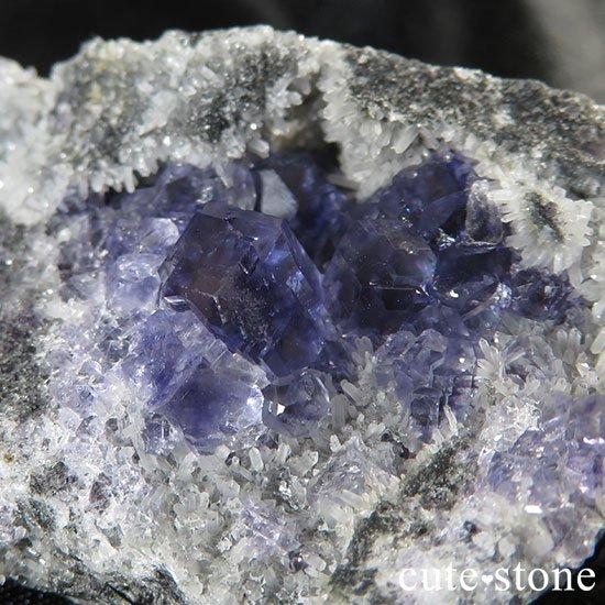福建省産パープルフローライトのクラスター 42gの写真1 cute stone