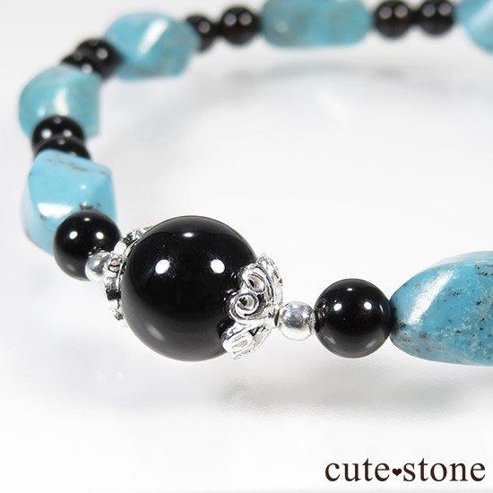 【青条揚羽】ターコイズ モリオンのブレスレットの写真1 cute stone