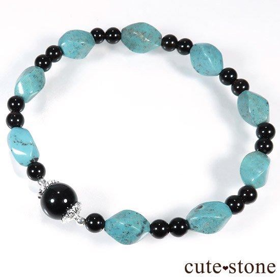 【青条揚羽】ターコイズ モリオンのブレスレットの写真2 cute stone