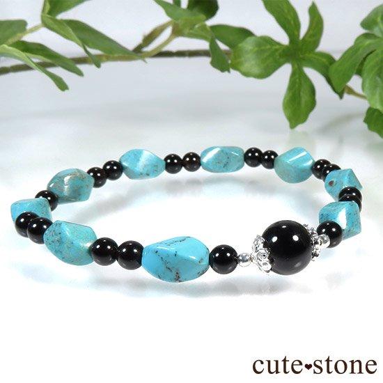 【青条揚羽】ターコイズ モリオンのブレスレットの写真3 cute stone