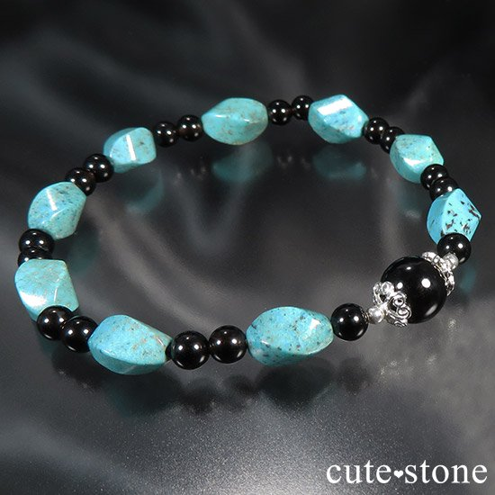 【青条揚羽】ターコイズ モリオンのブレスレットの写真4 cute stone