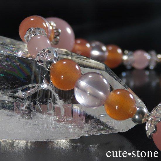 【恋色の魔法】グァバクォーツ アプリコットアゲート スターローズクォーツのブレスレットの写真4 cute stone