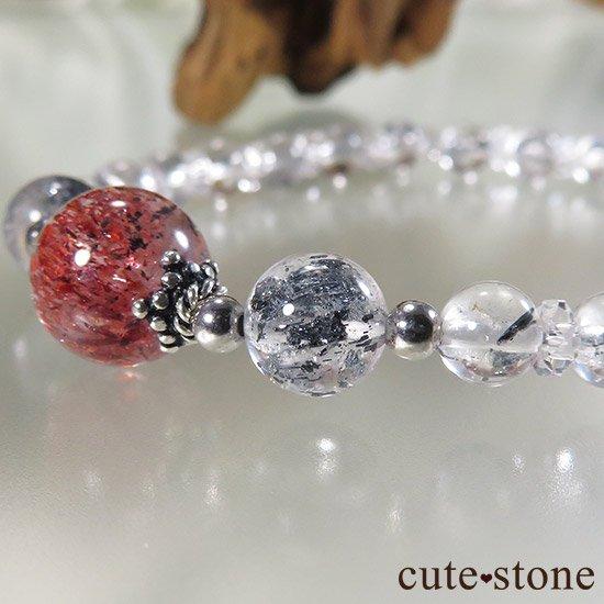 【紅の剣】ファイアークォーツ スティブナイトインクォーツのブレスレットの写真0 cute stone