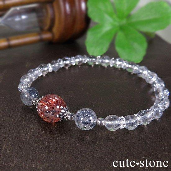 【紅の剣】ファイアークォーツ スティブナイトインクォーツのブレスレットの写真2 cute stone