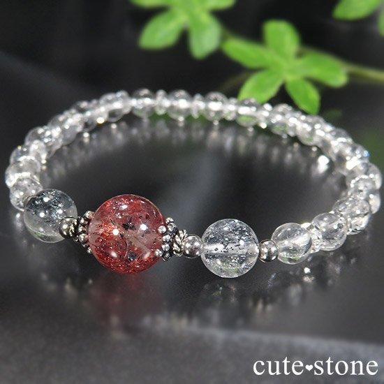 【紅の剣】ファイアークォーツ スティブナイトインクォーツのブレスレットの写真3 cute stone