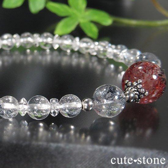 【紅の剣】ファイアークォーツ スティブナイトインクォーツのブレスレットの写真4 cute stone