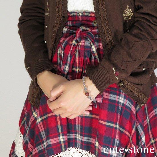 【紅の剣】ファイアークォーツ スティブナイトインクォーツのブレスレットの写真5 cute stone