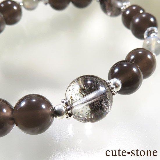 【箱庭の夜】 ガーデンクォーツ レインボーオブシディアン ラブラドライトのブレスレットの写真0 cute stone