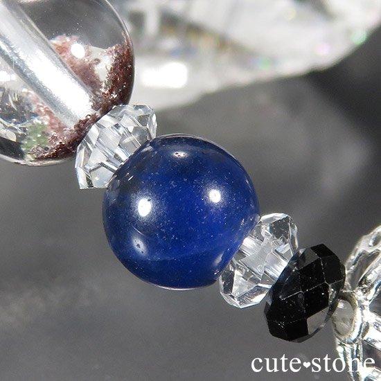 【Black needles】 アンカンガイトインクォーツ ブラックスピネル ガーデンクォーツ インペリアルソーダライトのブレスレットの写真1 cute stone