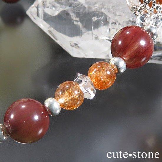 【太陽のかけら】 オレンジゴールドルチルクォーツ アンデシン サンストーンのブレスレットの写真2 cute stone