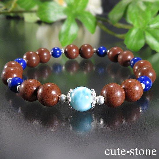 【EARTH COLOR】 ラリマー セドナストーン ラピスラズリのブレスレットの写真3 cute stone