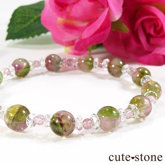 【CANDY RING】 ウォーターメロントルマリン ピンクトルマリン 水晶のブレスレットの写真2 cute stone