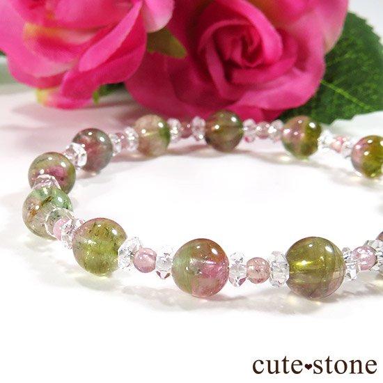 【CANDY RING】 ウォーターメロントルマリン ピンクトルマリン 水晶のブレスレットの写真3 cute stone