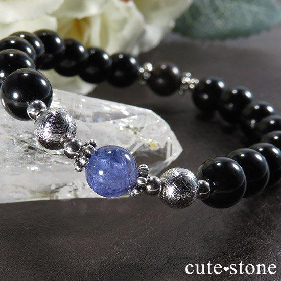 【Cosmo bracelet】 タンザナイト ムオニナルスタ サハラNWA869 テクタイトのメンズブレスレットの写真0 cute stone