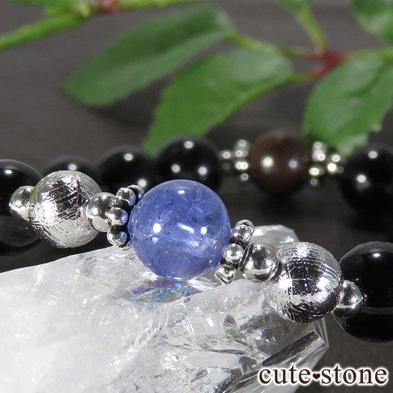 【Cosmo bracelet】 タンザナイト ムオニナルスタ サハラNWA869 テクタイトのメンズブレスレットの写真1 cute stone