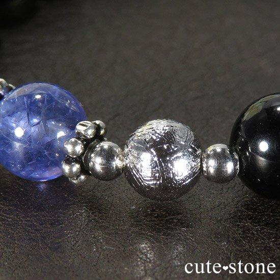 【Cosmo bracelet】 タンザナイト ムオニナルスタ サハラNWA869 テクタイトのメンズブレスレットの写真2 cute stone
