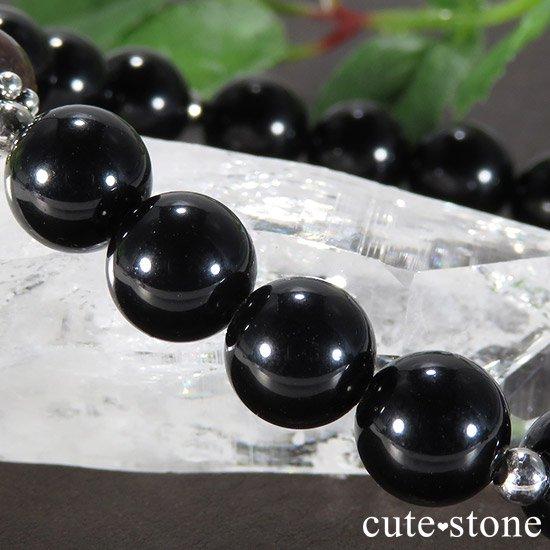【Cosmo bracelet】 タンザナイト ムオニナルスタ サハラNWA869 テクタイトのメンズブレスレットの写真3 cute stone