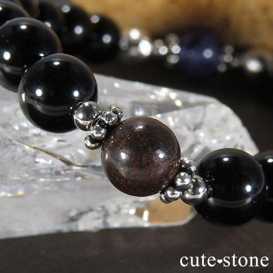 【Cosmo bracelet】 タンザナイト ムオニナルスタ サハラNWA869 テクタイトのメンズブレスレットの写真4 cute stone