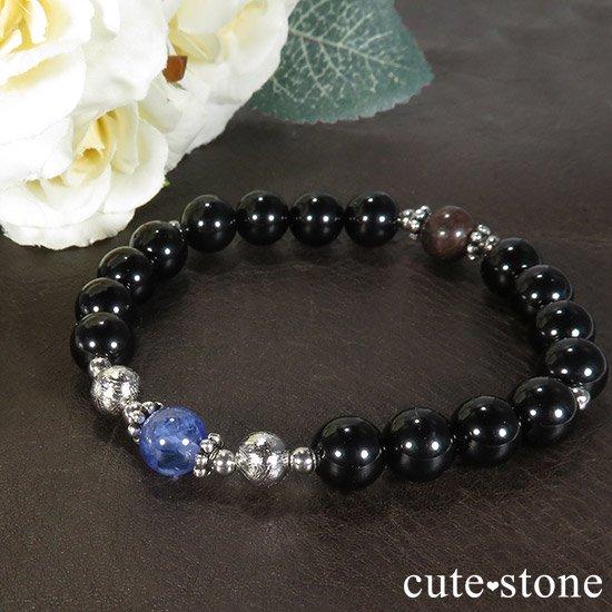 【Cosmo bracelet】 タンザナイト ムオニナルスタ サハラNWA869 テクタイトのメンズブレスレットの写真5 cute stone