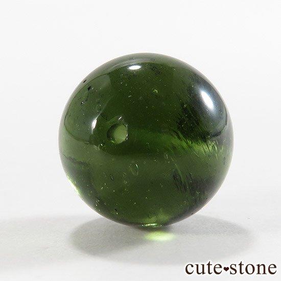 【粒売り】鑑別済 モルダバイト AAAAA ラウンド12mm No4の写真1 cute stone