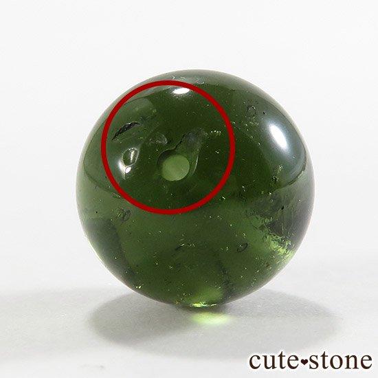 【粒売り】鑑別済 モルダバイト AAAAA ラウンド12mm No4の写真3 cute stone
