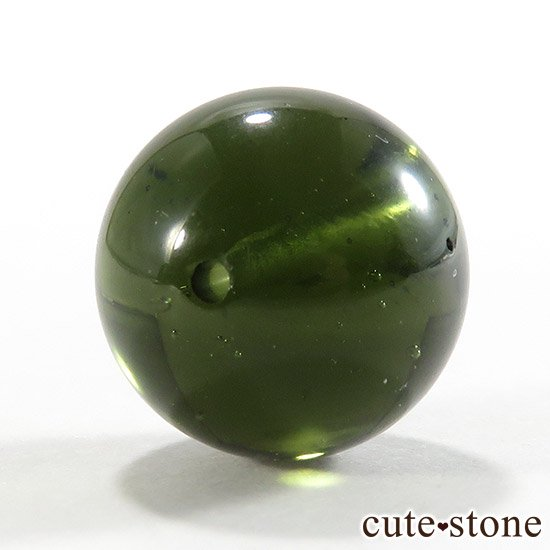 【粒売り】鑑別済 モルダバイト AAAAA ラウンド12mm No16の写真1 cute stone