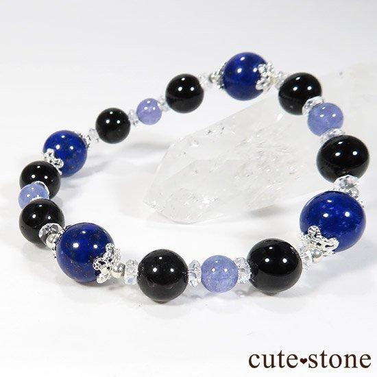 【蒼の夜空】 ラピスラズリ モリオン タンザナイト 水晶のブレスレットの写真2 cute stone