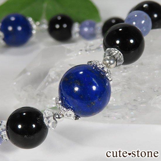【蒼の夜空】 ラピスラズリ モリオン タンザナイト 水晶のブレスレットの写真4 cute stone