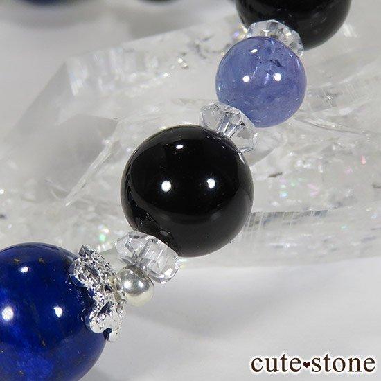 【蒼の夜空】 ラピスラズリ モリオン タンザナイト 水晶のブレスレットの写真5 cute stone