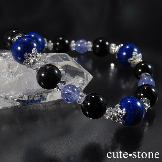 【蒼の夜空】 ラピスラズリ モリオン タンザナイト 水晶のブレスレットの写真7 cute stone