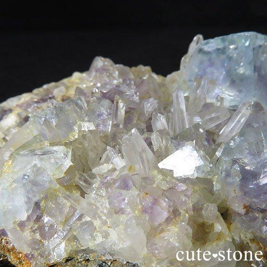 内モンゴル産 フローライトと水晶の共生標本(原石)の写真5 cute stone