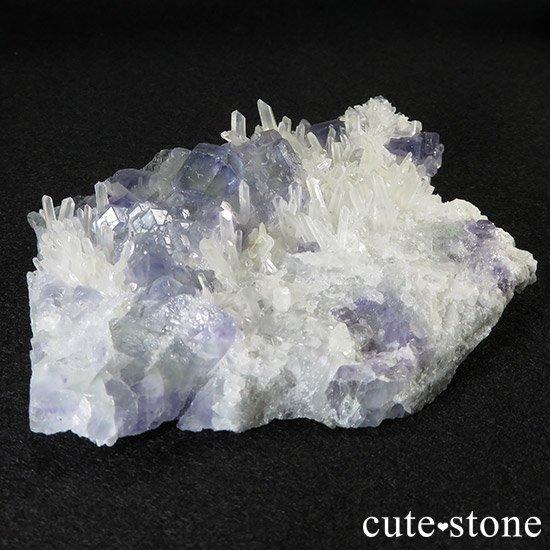 福建省産 フローライトと水晶の共生標本(原石)の写真0 cute stone