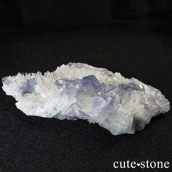 福建省産 フローライトと水晶の共生標本(原石)の写真1 cute stone