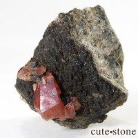 ロードクロサイト(インカローズ)の標本(母岩付き原石)の画像