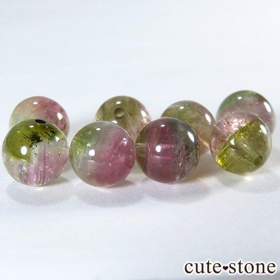 【粒売り】ウォーターメロントルマリン AAA 7mmの写真0 cute stone