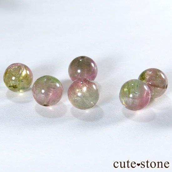 【粒売り】ウォーターメロントルマリン AAA 7mmの写真1 cute stone