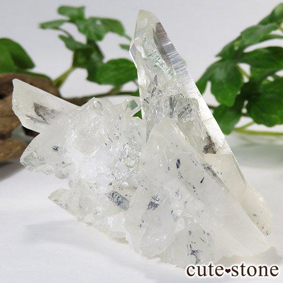 スティブナイトインクォーツ(輝安鉱入り水晶)の原石の写真0 cute stone