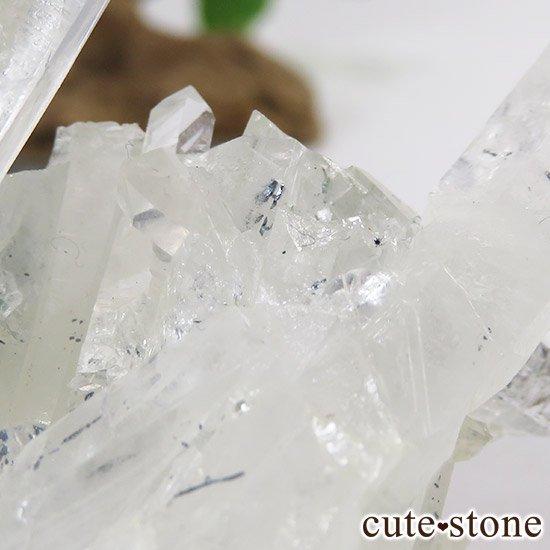 スティブナイトインクォーツ(輝安鉱入り水晶)の原石の写真4 cute stone