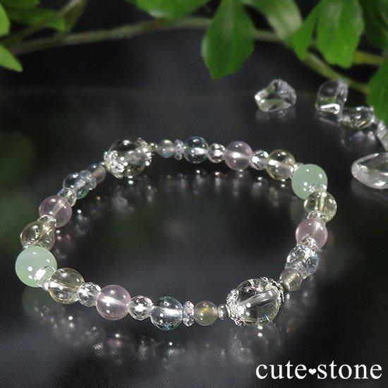 【COLORFUL CANDY】 アイリスクォーツ グリーンカルサイト ブルートパーズ ect のブレスレットの写真1 cute stone