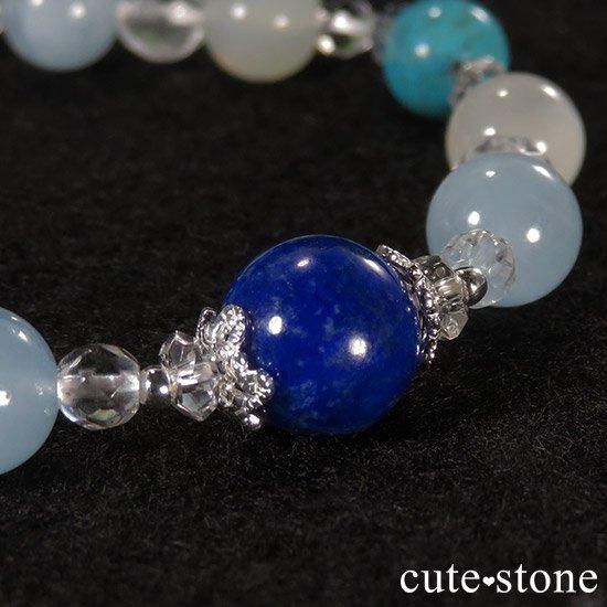 【蒼天の月】 ラピスラズリ アクアマリン ターコイズ ホワイトムーンストーンのブレスレットの写真0 cute stone