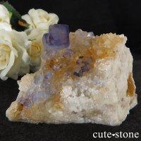 ニューメキシコ州 パープルブルーフローライト(蛍石)の原石 137gの画像