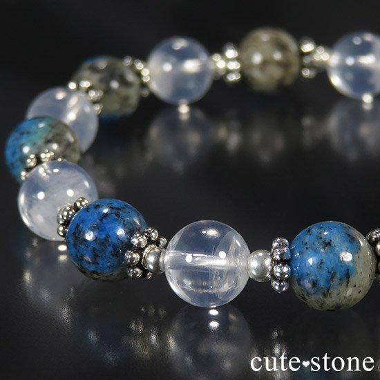 【K2と夜空】 K2アズライト(ブラック) K2ムーンクォーツのブレスレットの写真0 cute stone
