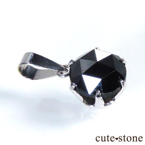 ブラックダイヤモンド 1ct プラチナ900製ペンダントトップの写真0 cute stone